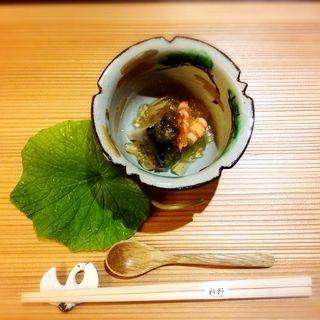 海老と茄子のゼリーよせ(GINZA 水野 (ギンザ ミズノ))