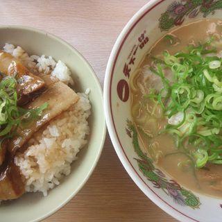 豚バラ丼セット(天下一品ラーメン 福井二ノ宮店)