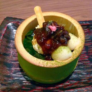 Sweets Set(宇治抹茶パフェ)(らんちょす。 )