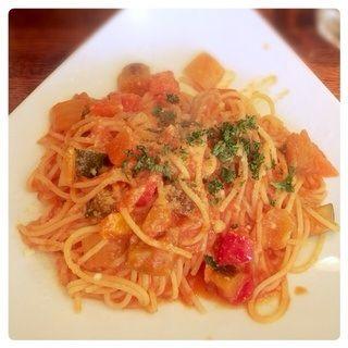 オーガニック野菜のトマトソースパスタ(モンテ・ビアンコ )