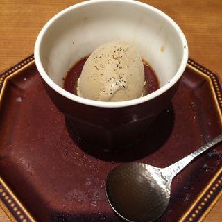 ほうじ茶プリン(京洋食 あかつき (【旧店名】kitchen ヨネムラ))