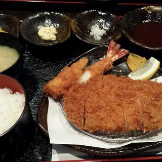 特上ロースカツ定食(エビフライ増し)(とんかつ上善 (じょうぜん))