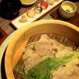博多せいろ蒸しランチ(九州の旬 博多廊 福岡本店 (はかたろう))