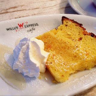 オレンジのパウンドケーキ(ウィラーエクスプレスカフェ (WILLER EXPRESS CAFE))