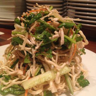 パクチー・セロリたっぷり 干し豆腐の香味野菜和え(天天厨房 )