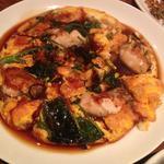 牡蠣と旬野菜のオムレツ