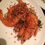 鹹酥蝦(シエンスウシャー/殻付き海老の唐揚げ)