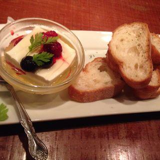チーズ豆腐(チョップスティックカフェ 汁べゑ 渋谷店)