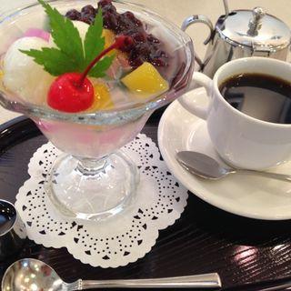コーヒー&ミニあんみつ(エリート )