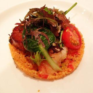 オマール海老のマリネ 牡蠣とホタテのスモークタブレ(ビストロ カトリ (Bistro Katori))