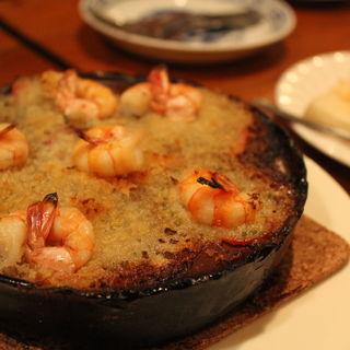 エビとホタテのエスカルゴ風オーブン焼き(虎鳥屋 (TORA-TORI-YA))