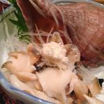 つぶ貝の刺身