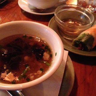 本日のスープと春巻きセット(モンスーンカフェ 麻布十番 (Monsoon Cafe))