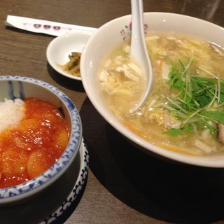 サンラータンメン ミニえびちり丼(趙之家 ソラリアステージ店 (チャオノミセ))