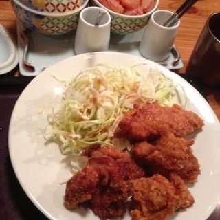 唐揚げ定食(博多もつ鍋 やまや 大阪北浜店)
