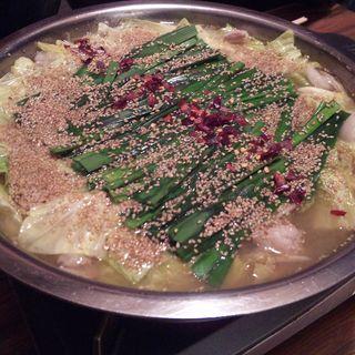 モツ鍋(醤油)(鍋秀 岩塚店 (なべひで))