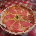 ハムとチーズのピッツァ