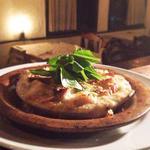 スモークサーモンとホタテ、スモークチーズのグラタン