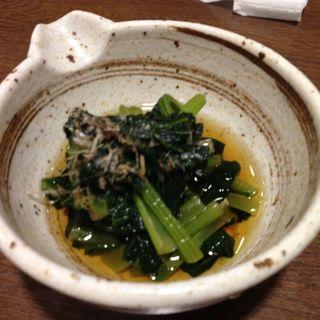 青菜の煮浸し(しながわ翁 (しながわおきな))