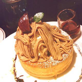 モンブランパンケーキ(森の朝)