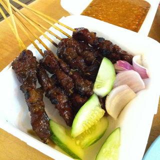 チキンとラム肉のサテー(Tang City Food Court 唐城美食中心)