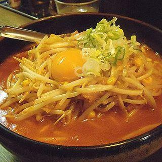 キムチ納豆ラーメン(柳家 仙台東口店 (やなぎや))