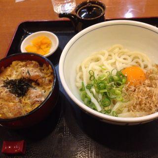 釜玉うどん ミニカツ丼セット(かごや )