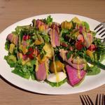 彩り鮮やかな根菜と鴨のサラダ オレンジソース