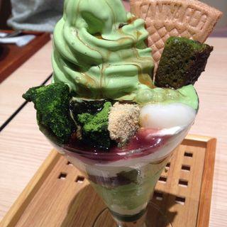 抹茶パフェ(京はやしや 博多)