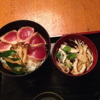 Tuna steak don and clear soup(SOBAYA)