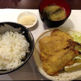 アジフライ定食(大雄ラーメン 入江町店 (だいゆうらーめん))