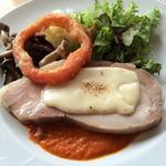豚ロースのモッツァレラチーズ焼き