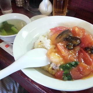 海老トマト炒飯(李園)