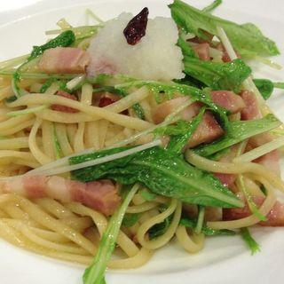ベーコンと水菜のパスタ(ルフラン レストラン)