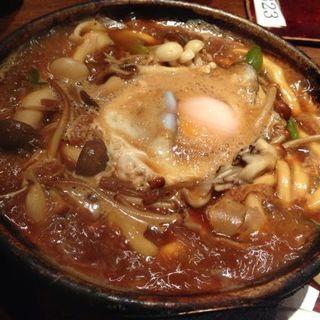 味噌煮込みうどん+キノコ(玉丁本店 八重洲店 (たまちょうほんてん))