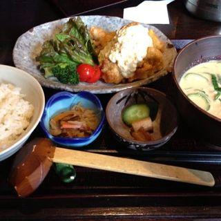 チキン南蛮+冷汁+麦飯(魚山亭 新寮 (ぎょっさんてい))