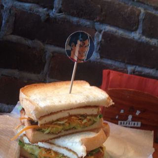 豆腐と野菜のサンドイッチ