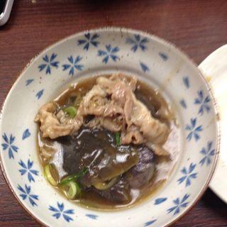 ナスと豚肉の煮物(ままや )