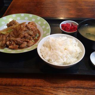 照り焼きチキン定食(喫茶竹)