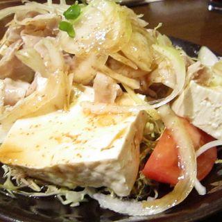 豆腐と豚しゃぶのオニオンサラダ(新和風空間 御料)