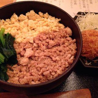 鶏そぼろ定食(銀座ライス)