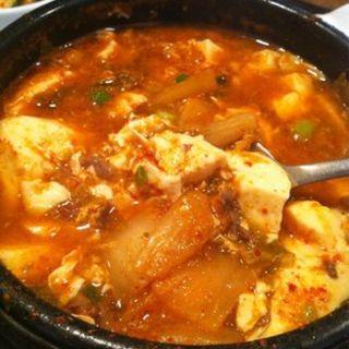 Kimchi and beef(So Kong Dong Restaurant)