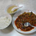 茄子とひき肉の辛しうま煮