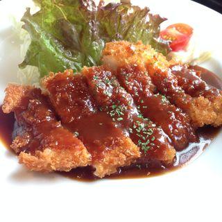 チキンデミカツ定食(ゆず家 四条烏丸店 )