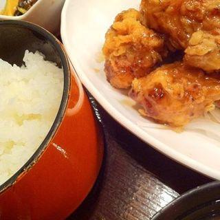 黒酢とり唐揚定食(品川23号そば店 (【旧店名】常盤軒))