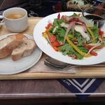 蒸し鶏とアンディーブとクルミのサラダ
