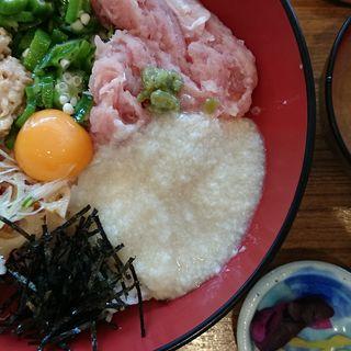 ねぎ鮪とおくら納豆のネバとろ丼(ナチュラルキッチン イオンモールりんくう泉南 (Natural Kitchen))