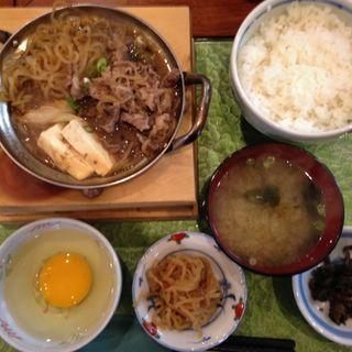 すき焼き定食(梅Q (うめきゅー))