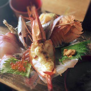 海鮮丼(塩湯)