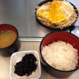 もやし炒め定食(お好み焼 さくら )